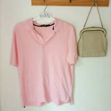 Nautica Men's Classic Fit Short Sleeve Deck Polo Pink small sportswear sailing S