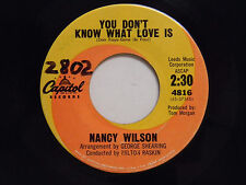 Nancy Wilson 45 YOU DON'T KNOW WHAT LOVE IS / PUT ON A HAPPY FACE ~ Capitol VG+