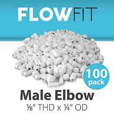 """Male Elbow 1/8"""" Quick Connection Fitting Parts Water Filters / RO System 100 PK"""