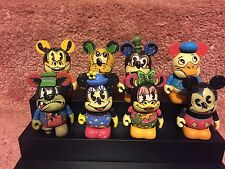 Disney Vinylmation Ink and Paint Set of 8 With Chaser & FREE DISPLAY CASE