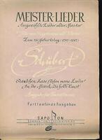 Schubert ~ Leise flehen meine Lieder / Du holde Kunst ~ für Tenor/Sopran u. Pian