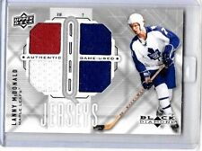 LANNY McDONALD 2009-10 UD BLACK DIAMOND 3 COLOR QUAD GAME USED JERSEYS