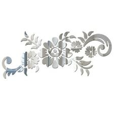 3D Mirror Tiles Flower Wall Stickers Removable Mural Bedroom Art Decals a+ Gffa