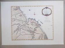 Carte géographique CAYENNE Guyane française Ed. Delabergerie Th. Jefferys