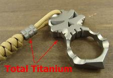 Skull Titanium Self-defense Survival Tool key pendant Finger Buckle EDC+Ti Bead
