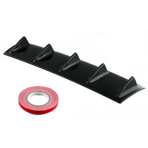 Car Gloss Black Rear Bumper Lip Diffuser Shark Fin Style Back Splitter Universal