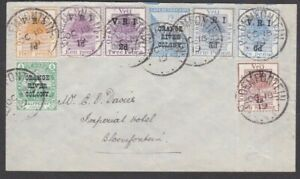 1919 LATE USE MIXED FRANKING ORANGE FREE STATE VRI + ORANGE RIVER COLONY COVER