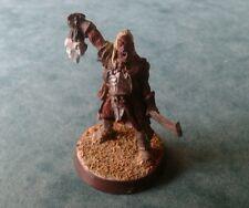 LOTR Warhammer Ugluk Uruk-hai Metal slotta base de características bien pintados & En Miniatura