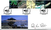 National Trust 2002 Buckingham Cover BC017A SIGNED Robin Knox-Johnston, sailor