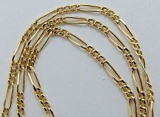 """14k Solid Gold Necklace 1.5mm  x 17""""  Figaro Chain Necklace 1.6 grams"""