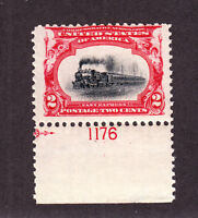 US 295 2c Pan-American Mint Plt #1176 Single F-VF OG NH SCV $40