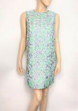 MSGM mint green & silver floral brocade sleeveless dress - size 42 Italian