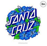 Santa Cruz Hibiscus Dot Skateboard Sticker 3in si