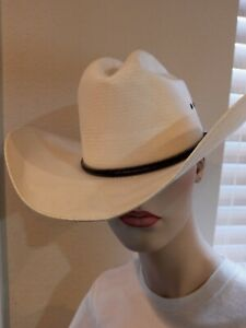 Resistol George Strait Straw Cowboy Hat 7 1/8 Western Self Conforming