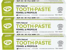 Green People 100% naturale Fennel & PROPOLI DENTIFRICIO 3 confezioni OFFERTA