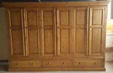 NEW SOLID WOOD PINE EXTRA LARGE WARDROBE WITH SHELVES & DRAWERS * MADE TO ORDER*