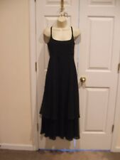 NEW NEWPORT NEWS BLACK TIERED FORMAL OCASSION  LONG GOWN DRESS  SIZE 6