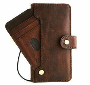Genuine Dark Leather Case for Samsung Galaxy S21 Soft ID Wallet Book Wireless