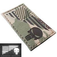 american USA flag punisher IR infrared multicam morale tactical laser hook patch