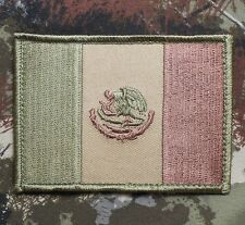 MEXICAN COUNTRY FLAG of MEXICO ARMY ISAF MILITARY TACTICAL MULTICAM HOOK PATCH