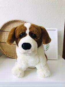 "Applause Alps St Bernard Dog Stuffed Animal Toy 12"" Lou Rankin"