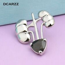 Kidney Heart Shape Crystal Pin Medical Gold Color Brooch Jewelry For Doctor Gift