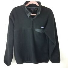 Patagonia Black Fleece Size M T-Snap Long sleeve pull-over