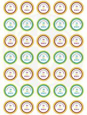 37mm Round Paper Stickers Birthday Party Thank You Mixed Sheet Boys And Girls