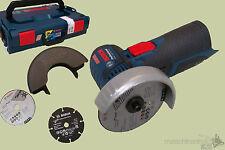 Bosch GWS10,8-76 V-EC Akku-Winkelschleifer Solo inkl. L-Boxx + Trennscheiben