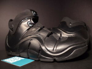 2008 Nike ZOOM LEBRON IV 4 BLACK OUT ANTHRACITE GREY SILVER 314647-001 LOT 9.5