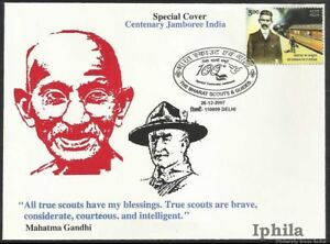 Gandhi Baden Powell Centenary Jamboree 100th Bharat Scouts Boy Scouting sp cover