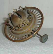 "Hinks & Son Birm.Small Threadless Push In Brass Burner with 3&1/4"" Shade Holder"