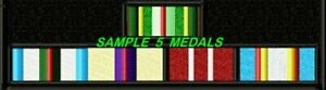MILITARY MULTI MEDAL RIBBON - 3 TO 12 MEDALS - EMBROIDERED BIKER PATCH
