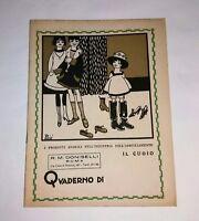 Quaderno scolastico - Moda - Cartiere A. Binda,  s.d.,  anni '30  - Intonso
