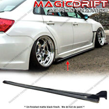 For 08-14 Subaru Impreza WRX STI S206 CS Style Side Skirts Extension Lip Kit