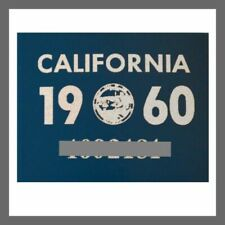 1960 California Yom DMV Car Truck Trailer License Plate Sticker / Tag Ca 1956/60