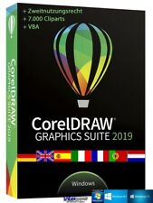 CorelDraw Graphics Suite 2019 Vollversion VBA Cliparts Schulversion Download NEU