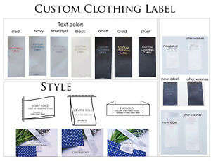 Personalised Custom Print Satin Clothing label tag care sewing FREE TRACKING