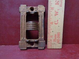 ANTIQUE CAST IRON LANTERN OIL LAMP HANGING BRACKET PATENT 1880s