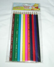 12 pcs Winnie the Pooh Wooden Coloring Pencil Disney Party Favor School Supplies