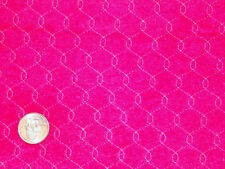 G Designer Stitched Raspberry Robe Velour Micro Fiber Fashion Fabric 1 yd