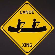 Canoe Xing Aluminum Boat, Kayak Sign Won't rust or fade