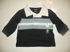 GYMBOREE HOLIDAY AVIATOR CHEST STRIPE RUGBY POLO L/S SHIRT 3 6 NWT