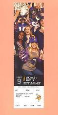 New Orleans Saints  Vikings 2011 tickets MINT stub DREW BREES game #41 TD STREAK