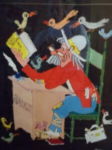 Jovan Obican acrylic on paper: The Advokat
