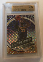 2019-20 Panini Mosaic Overdrive Prizm Lebron James Bgs 9.5 True Gem Mint + Laker
