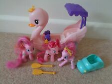 My Little Pony Row and Ride Swan Boat  Pinkie Pie and other ponys
