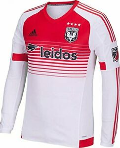 Adidas MLS Men's D.C. United Long Sleeve Authentic Home Jersey