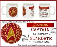 Star Trek Personalised Ceramic Mug - Great Star fleet Birthday Gift Christmas