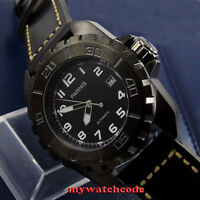 45mm parnis black dial PVD 21 Jewels miyota automatic movement mens watch P424
